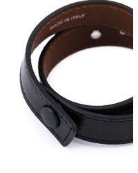 Givenchy - Black Double Wrap Bracelet - Lyst