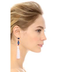 Kenneth Jay Lane | Blue Tassel Earrings | Lyst