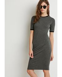 Forever 21 - Gray Midi T-shirt Dress - Lyst