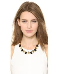 Tory Burch - Metallic Cecily Short Necklace Midnight Blueantiqued Gold - Lyst