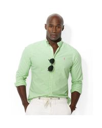 Polo Ralph Lauren - White Polo Big and Tall Gingham Checked Oxford Shirt for Men - Lyst
