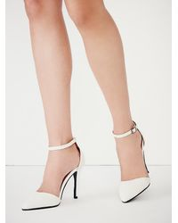 Free People - White Kobe Husk Womens Ibiza Nights Heel - Lyst