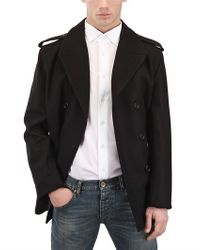 Dior Homme - Black Double Breasted Coat for Men - Lyst