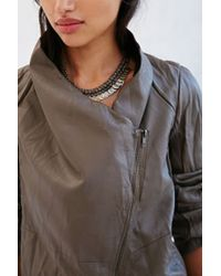 BB Dakota - Brown Ellif Faux Leather Jacket - Lyst