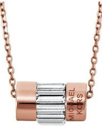 Michael Kors | Pink Mkj4951791 Ladies Necklace | Lyst