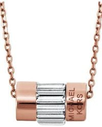 Michael Kors - Pink Mkj4951791 Ladies Necklace - Lyst