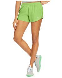 Nike   Green Tempo Herringbone-print Running Shorts   Lyst