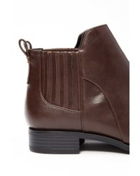 Forever 21 - Brown Faux Leather Chelsea Boots - Lyst