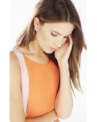 BCBGMAXAZRIA | Metallic Pave Triangle Earrings | Lyst