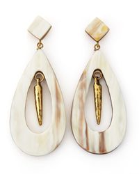 Ashley Pittman - Natural Heleni Earrings - Lyst