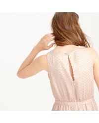 J.Crew | Pink Collection Metallic Clip-dot Dress | Lyst
