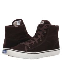 Keds | Brown Double Up Hi Suede | Lyst