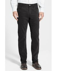 Tommy Bahama | Black 'twill Smith' Brushed Cotton Authentic Fit Pants for Men | Lyst