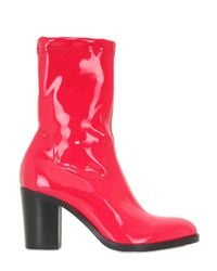 Strategia | Red 80mm Stretch Naplak Effect Ankle Boots | Lyst