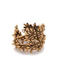 Oscar de la Renta - Metallic Seaweed Bracelet - Lyst
