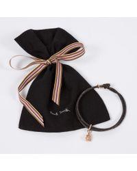 Paul Smith | Black Men's Rose Silver Ganesh Charm Brown Bracelet for Men | Lyst