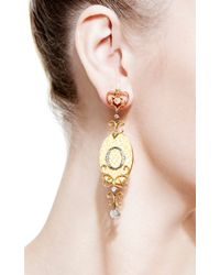 Bochic | Orange Enamel and Diamond Ikon Earrings | Lyst