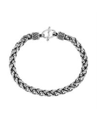 Aeravida | Metallic Tribal Chain Unique Hill Tribe Handmade Silver Bracelet | Lyst