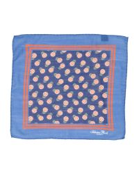Salvatore Piccolo - Blue Square Scarf for Men - Lyst