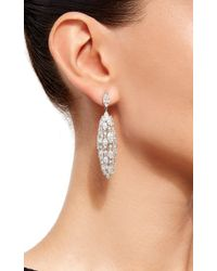 Sidney Garber Metallic 18k White Gold And Diamond Torchere Earrings
