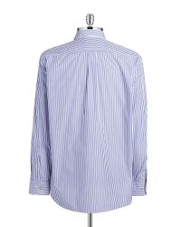 Tommy Bahama - Blue Striped Cotton Sportshirt for Men - Lyst