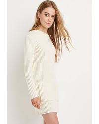 3a0164b58f Forever 21 Chunky Ribbed Sweater Dress in Natural - Lyst