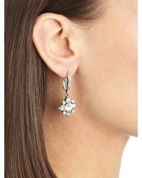 Oscar de la Renta | Metallic Swarovski Crystal Petite Drop Earrings | Lyst