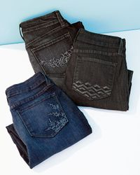 NYDJ - Blue Barbara Boot-Cut Burbank Leaves Jeans - Lyst