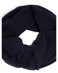 DKNY - Blue Cashmere Double Wrap Infinity Scarf - Lyst