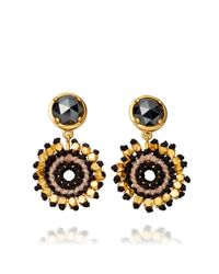 Astley Clarke | Black Calypso Hematite Sonatina 18Ct Gold Earrings - For Women | Lyst