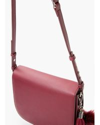 Mango | Purple Flap Cross-body Bag | Lyst