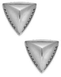 House of Harlow 1960 | Metallic Silver-Tone Textured Triangle Post Stud Earrings | Lyst
