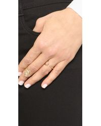 Odette New York - Metallic Crescent Cage Ring - Lyst
