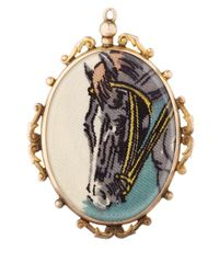 Annina Vogel - Metallic Gold Liberty Horse Locket - Lyst