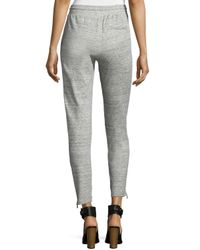 Vince - Gray Melange Drawstring Sweatpants - Lyst