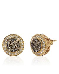 Le Vian | Metallic 14kt Yellow Gold And 1.37 Ct T W Diamond Stud Earrings | Lyst