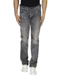 Mastercraft Union - Gray Denim Trousers for Men - Lyst