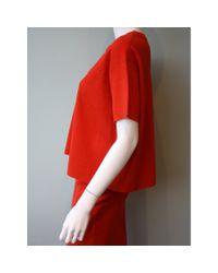 DEMYLEE | Red Lynn Short Sleeve Sweater | Lyst