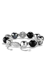David Yurman | Metallic Elements Bracelet With Black Onyx & Hematite | Lyst