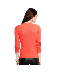 Polo Ralph Lauren | Orange Slim-fit Cabled Cashmere | Lyst