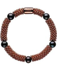Links of London | Brown Effervescence Star Rose-gold Pearl Bracelet - For Women | Lyst