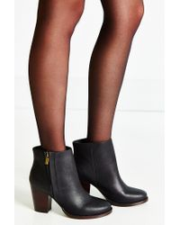 Silence + Noise | Black Half-stacked Heeled Ankle Boot | Lyst