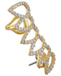 Noir Jewelry - Metallic Gold-plated Cubic Zirconia Ear Cuffs - Lyst