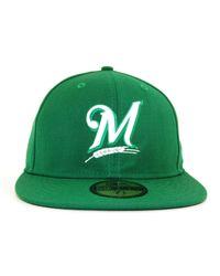 KTZ - Green Milwaukee Brewers C-dub 59fifty Cap for Men - Lyst