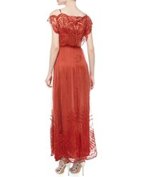 Catherine Deane - Red Philippa Silk Lace Gown - Lyst