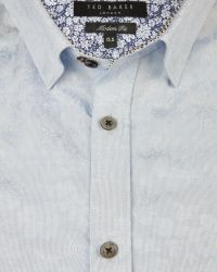 Ted Baker - Blue Floral Jacquard Shirt for Men - Lyst