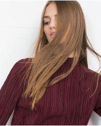 Zara | Purple Pleated Dress | Lyst