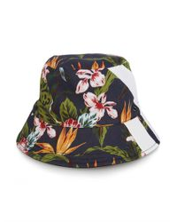 Y-3 | Gray Floral-Print Bucket Hat for Men | Lyst