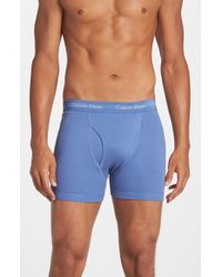 Calvin Klein | Blue Boxer Briefs, (3-pack) for Men | Lyst