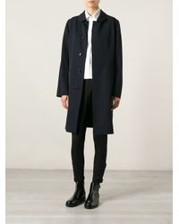 Comme des Garçons - Blue Single Breasted Coat - Lyst